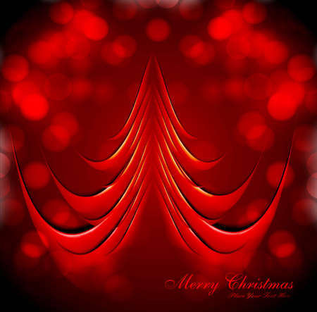merry christmas tree colorful celebration circle card vector Stock Vector - 18026007
