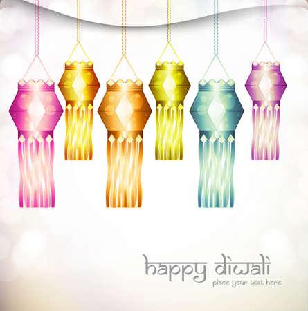 beautiful diwali hanging lamp festival shiny vector design  Stock Vector - 18048875