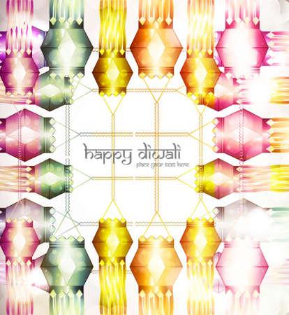 beautiful diwali hanging lamp festival background vector Stock Vector - 18048871