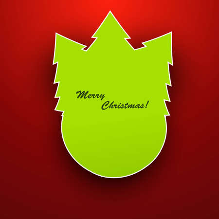 merry christmas stylish tree bright colorful Vector  Stock Vector - 18048876