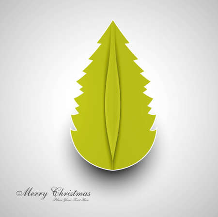 merry christmas card tree colorful whit background Stock Vector - 18048900