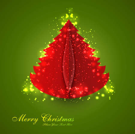 merry christmas tree colorful background Stock Vector - 18048904