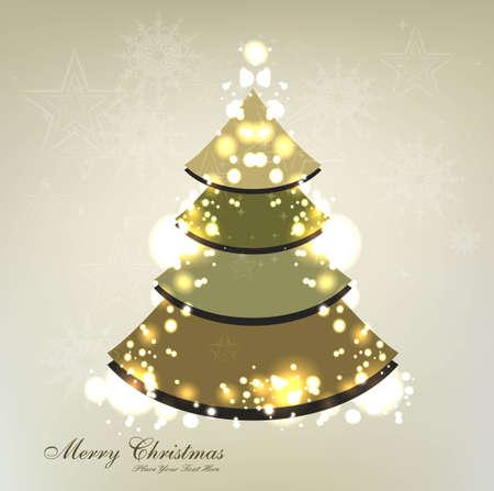merry christmas tree circle colorful card design vector Stock Vector - 18048958
