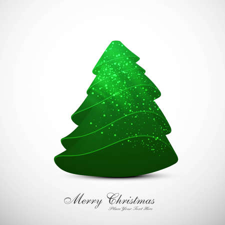 merry christmas stylish tree colorful whit background vector Stock Vector - 18048857
