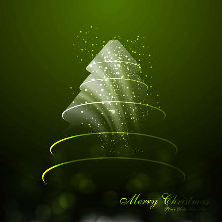merry christmas tree green colorful card vector Stock Vector - 18048948