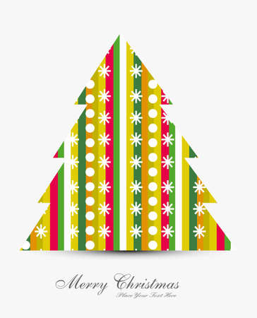merry christmas stylish tree card colorful background Stock Vector - 18088924