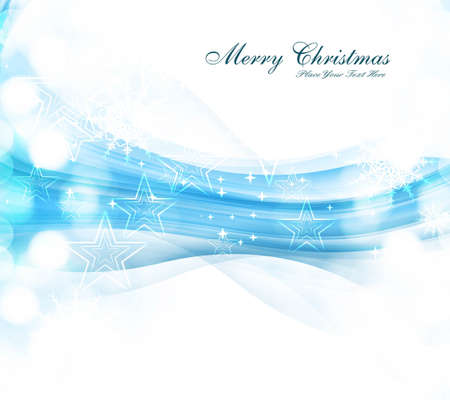 merry christmas celebration blue colorful wave card background vector Stock Vector - 18088936