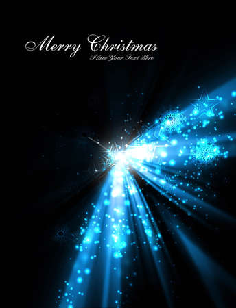 merry christmas tree celebration blue bright colorful background Stock Vector - 18088958