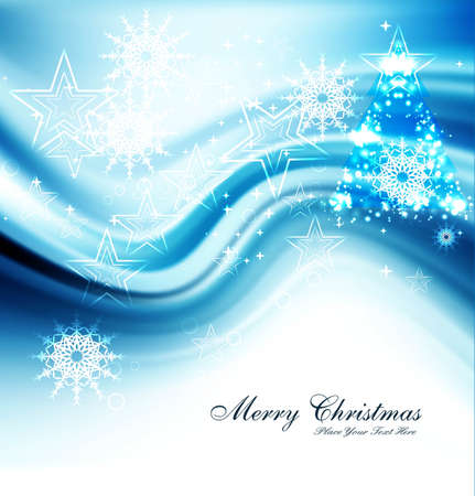 merry christmas celebration blue bright colorful background vector Stock Vector - 18088953