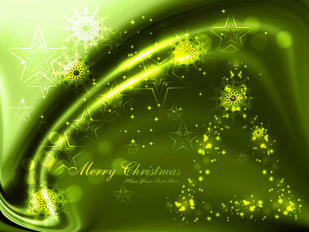 merry christmas celebration bright green colorful wave vector  Stock Vector - 18117198