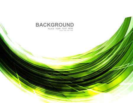 abstract shiny green technology stylish wave whit background vector Stock Vector - 18117276