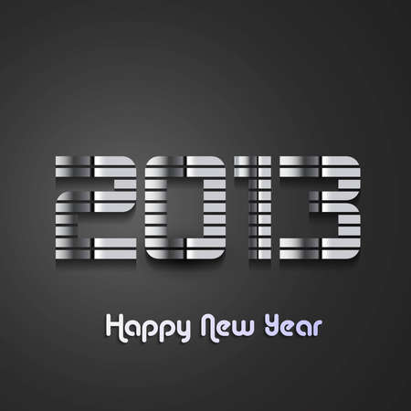 new year 2013 shiny metal colorful background  Illustration