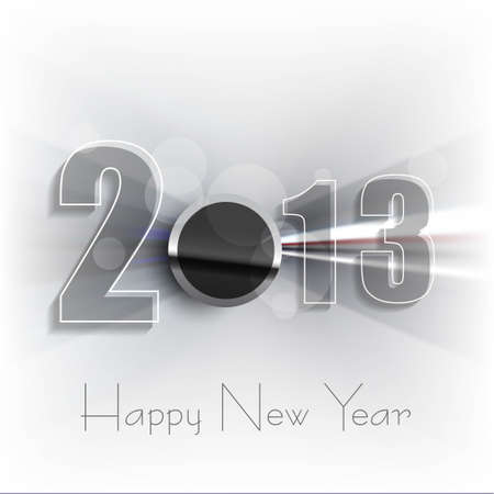 Happy new year 2013 shiny colorful background vector Stock Vector - 18153421
