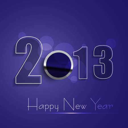 Happy new year 2013 shiny colorful design Stock Vector - 18153404