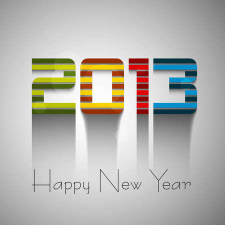 Happy new year colorful 2013 background vector Stock Vector - 18153407