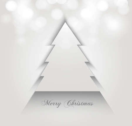 merry christmas stylish tree colorful whit background vector design Vector