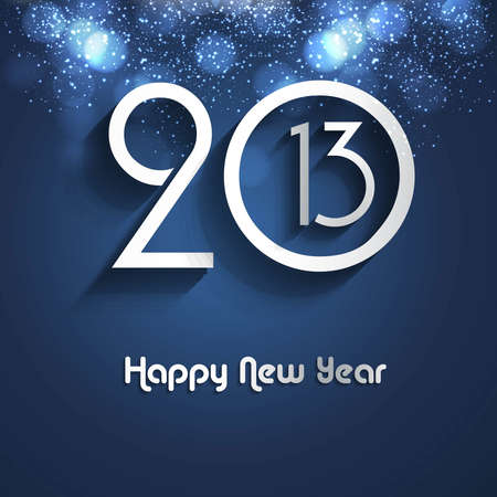 New year creative 2013 bright blue colorful vector background Stock Vector - 18153419