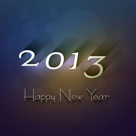 New year shiny 2013 bright background colorful design Stock Vector - 18172879