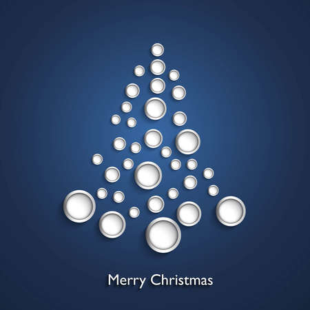 merry christmas stylish circle icon tree colorful design vector  Vector
