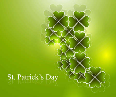 Abstract beautiful saint patricks day vector illustration  Stock Vector - 18210676