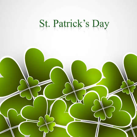Abstract beautiful saint patricks day green colorful vector illustration  Stock Vector - 18210689
