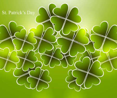 Abstract shiny beautiful green saint patricks day vector illustration  Stock Vector - 18210671