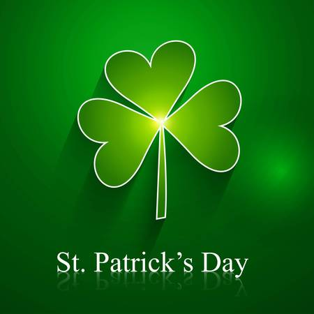 abstract st patrick day shiny single leaf vector design Stock Vector - 18210694