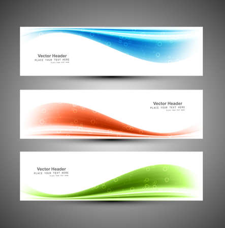 Header blue vector colorful wave background Stock Vector - 18210755