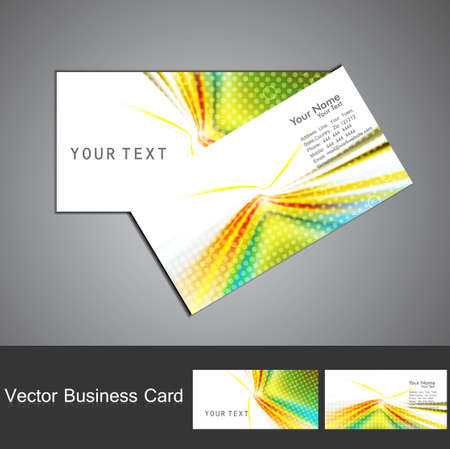 abstract colorful wave business card set design vector Stock Vector - 18210766