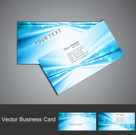 abstract blue colorful stylish circle wave business card set Stock Vector - 18238210