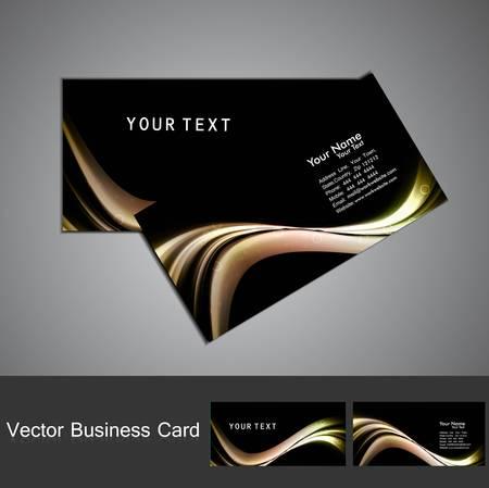 Business card set vector bright multicolor wave design Stock Vector - 18238254