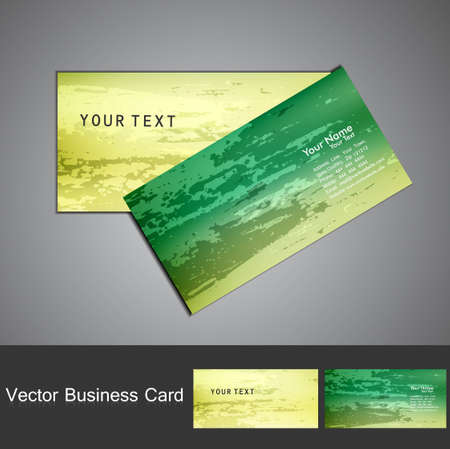 Business card set vector bright  green colorful texture background Stock Vector - 18238271