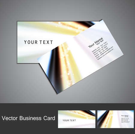 Business card set vector colorful wave Stock Vector - 18238214
