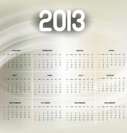 2013 calendar bright colorful shiny background Stock Vector - 18288278