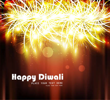 Happy diwali bright colorful celebration design Stock Vector - 18307152