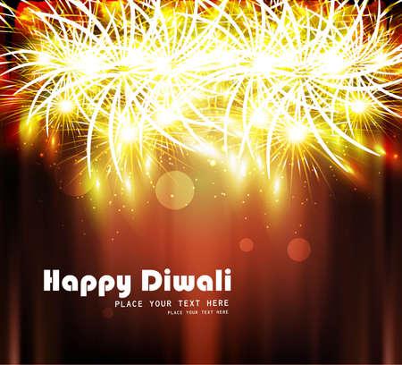 Happy diwali bright colorful celebration design Stock Vector - 18307152