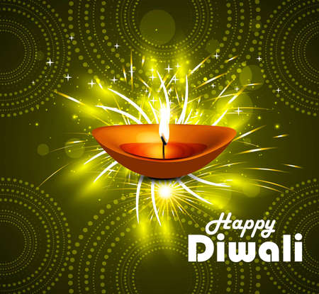 Celebration Happy diwali diya festival vector background Vector