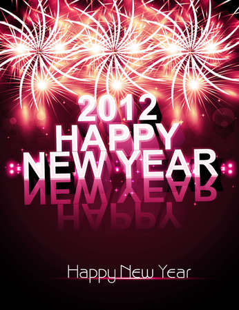 Happy new year 2013 celebration colorful background vector Stock Vector - 18352581