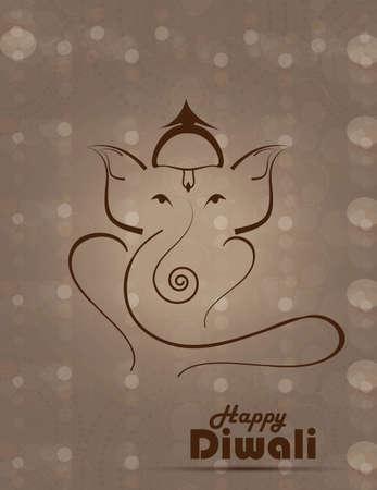 lord ganesha: Ilustraci�n art�stica de colores de dise�o hind� Ganesha vector