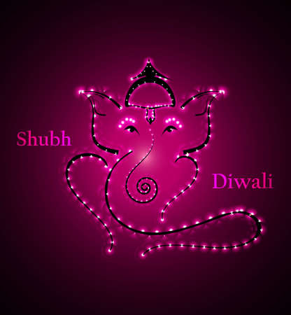 Beautiful Artistic bright colorful  Hindu Lord Ganesha vector design Illustration