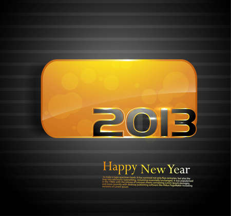 2013 Happy new year golden colorful shiny vector