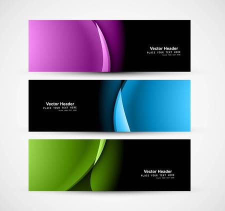 whit: Abstract shiny header colorful wave whit vector