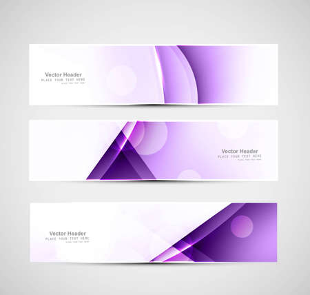 whit: Abstract header colorful wave whit vector design