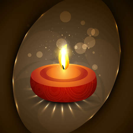 happy diwali diya bright colorful hindu festival vector Vector