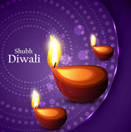 happy diwali beautiful card vector background Vector