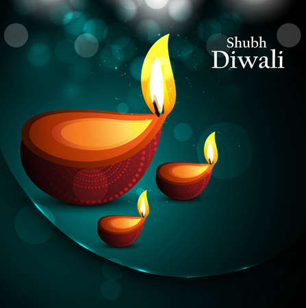 Happy diwali beautiful card diya vector design Stock Vector - 18435899