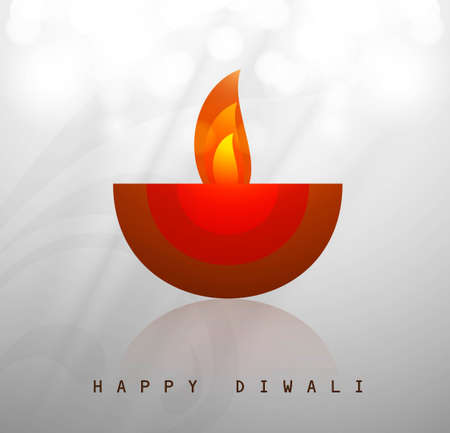 Beautiful happy diwali diya artwork vector Vector