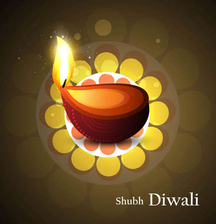 Shiny beautiful hindu diwali artwork festival vector background Vector
