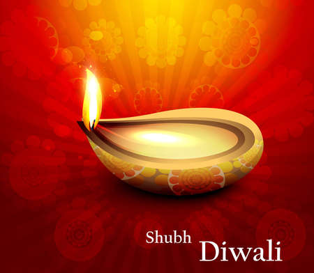 Beautiful hindu diwali festival illustration Stock Vector - 18458593