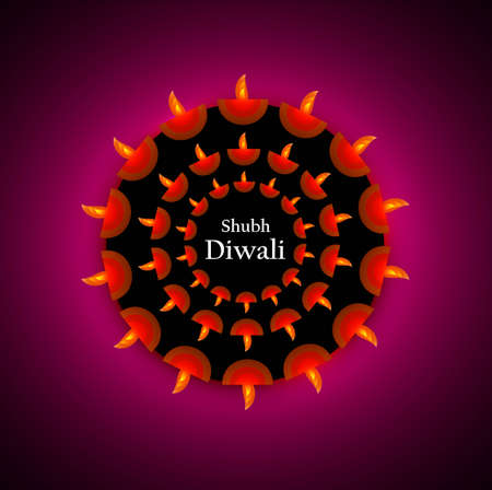 stylish circle diwali diya vector design Stock Vector - 18499553